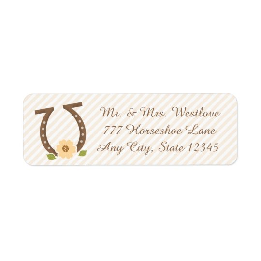 HORSESHOE AND SUNFLOWER RETURN ADDRESS RETURN ADDRESS LABEL