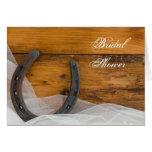 Horseshoe and Veil Bridal Shower Invitation Card