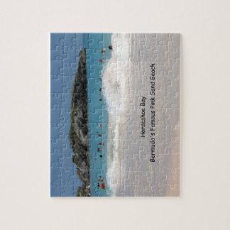 Horseshoe Bay, Bermuda's Famous Pink Sand Beach Jigsaw Puzzle
