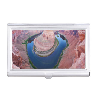 Horseshoe bend Arizona top view Business Card Holder