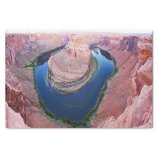 Horseshoe bend Arizona top view Tissue Paper