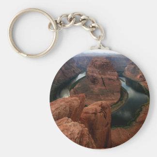 Horseshoe Bend, Colorado River Arizona Basic Round Button Key Ring