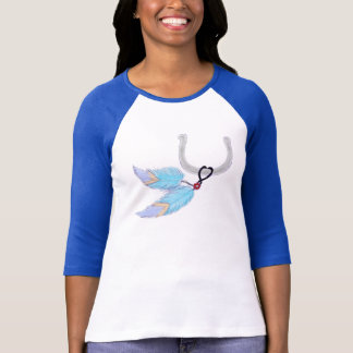 Horseshoe Blue Feathers Shirts