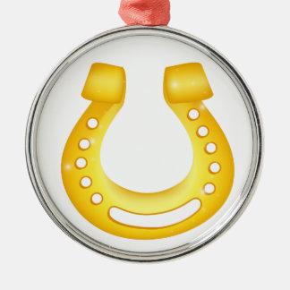 Horseshoe good luck metal ornament