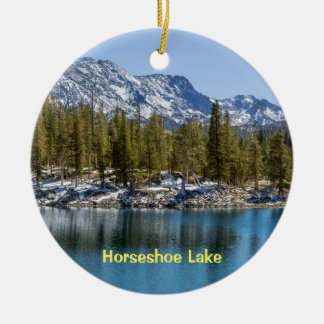 Horseshoe Lake, Mammoth Lakes, CA Ceramic Ornament