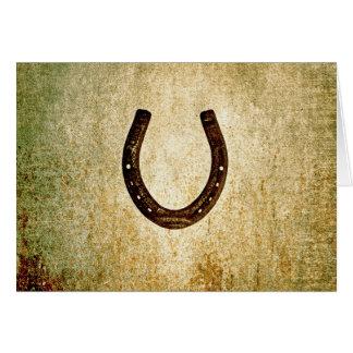 Horseshoe Note Card