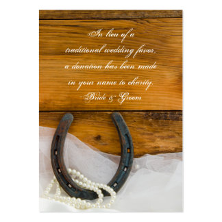 Horseshoe Pearl Country Wedding Charity Favor Card Pack Of Chubby Business Cards