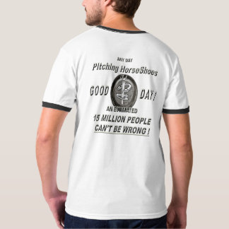 HorseShoe Pitching Basic Ringer T-Shirt