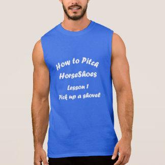 HorseShoe Pitching Sleeveless Tee..How to Pitch Sleeveless Tee