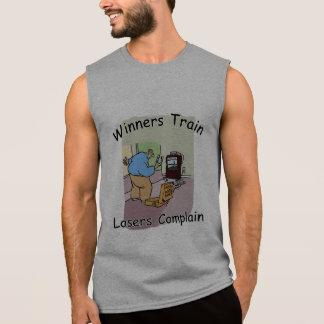 HorseShoe Pitching Sleeveless Tee..Winners Train Sleeveless Shirt