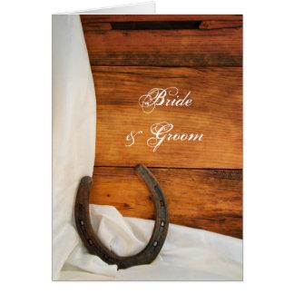 Horseshoe Satin Country Barn Wedding Invitation