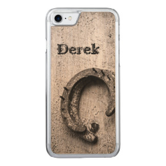 Horseshoe Vintage Sepia Photograph Carved iPhone 8/7 Case