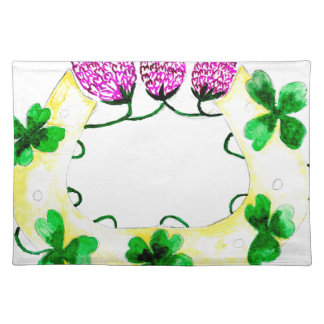 Horseshoe with Clover Placemat