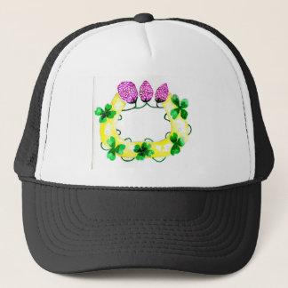 Horseshoe with Clover Trucker Hat