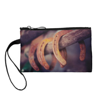 Horseshoes on Barn Wood Cowboy Country Western Coin Purse