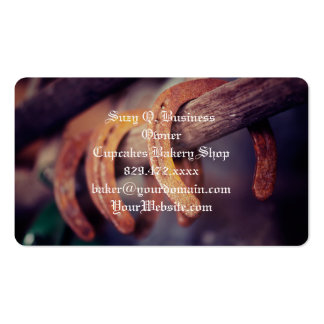 Horseshoes on Barn Wood Cowboy Country Western Pack Of Standard Business Cards