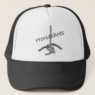 Horseshoes T-shirts and Gifts. Trucker Hat