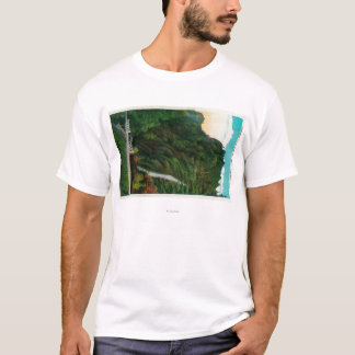Horsetail Falls in Columbia River Gorge T-Shirt