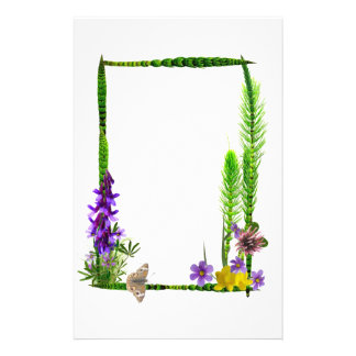 Horsetails, Wildflowers Buckeye Customized Stationery