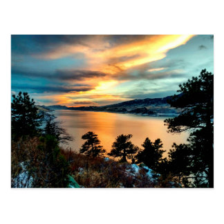 Horsetooth Reservoir, Colorado, Lake Sunset Postcard