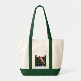 Horsing around - cheeky chestnut horse. impulse tote bag