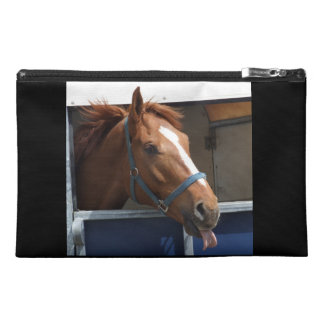 Horsing around - cheeky chestnut horse. travel accessory bag