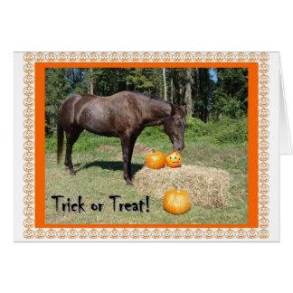 Horsy Halloween Card