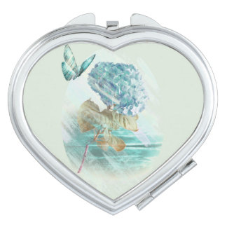 hortensia and butterfly makeup mirrors
