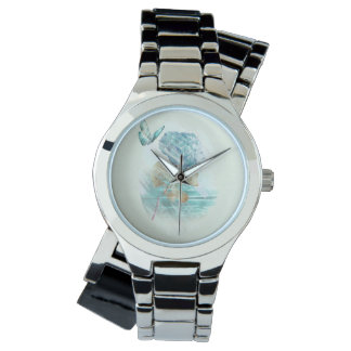 hortensia and butterfly wristwatch