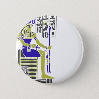 Horus the Hawk Egyption Heiroglyph 6 Cm Round Badge
