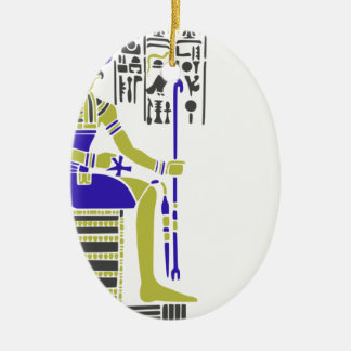 Horus the Hawk Egyption Heiroglyph Ceramic Ornament