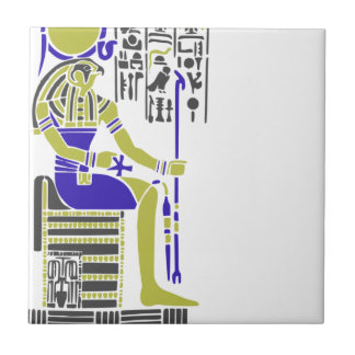 Horus the Hawk Egyption Heiroglyph Ceramic Tile