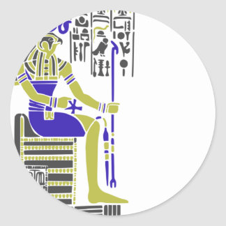 Horus the Hawk Egyption Heiroglyph Classic Round Sticker