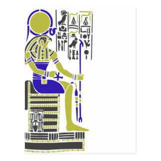 Horus the Hawk Egyption Heiroglyph Postcard