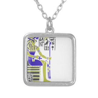 Horus the Hawk Egyption Heiroglyph Silver Plated Necklace