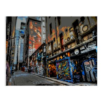Hosier Lane's Street Art and Graffiti - Melbourne Poster
