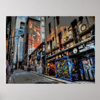 Hosier Lane's Street Art and Graffiti - Melbourne Poster
