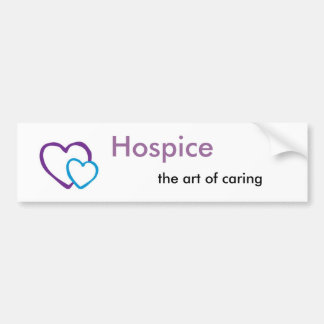 Hospice art of caring bumper sticker