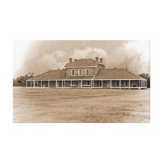 Hospital at Ft. Richardson Texas Canvas Print