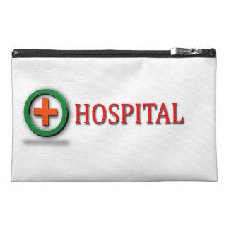 hospital cross mark on bags