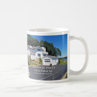 Hospital Point Lighthouse, Massachusetts Basic White Mug