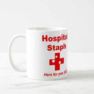 Hospital Staph (red & white) Coffee Mug