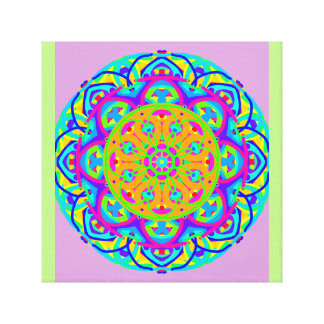 Hospitality Blue Green Mandala Canvas Print