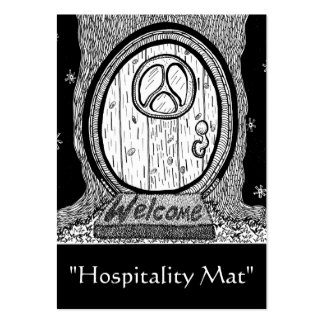 """Hospitality Mat"" ACEO Art Trading Card Pack Of Chubby Business Cards"