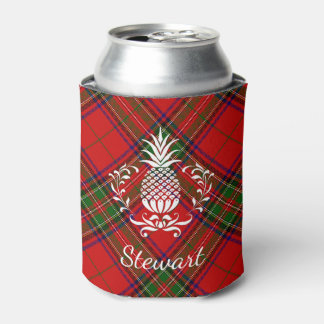 Hospitality Pineapple Tartan Your Text Can Cooler