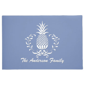 Hospitality Pineapple Your Text & Color Doormat