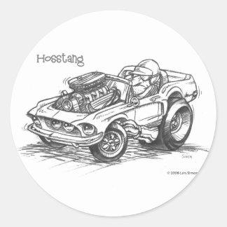 Hosstang Round Sticker
