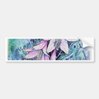 Hosta in bloom bumper sticker