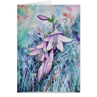 Hosta in bloom card