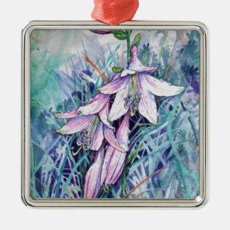 Hosta in bloom metal ornament